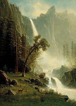 Brautschleierfall, Yosemite, Albert Bierstadt