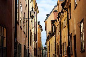 Zonsondergang in Gamla Stan, Stockholm van Julia Wezenaar