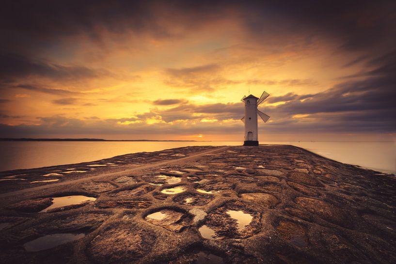Leuchtturm am Abend von Skyze Photography by André Stein
