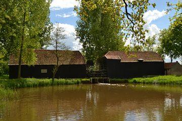 de watermolen van Nederwetten in Brabant gefotograafd gedurende de nationael molendagen van tiny brok