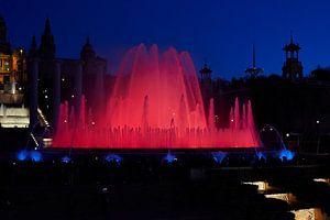 Magic fountain Barcelona van