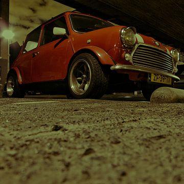 Oude Mini Cooper van Jan-Loek Siskens