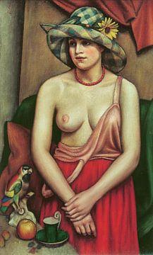 Mark Gertler, Der Strohhut - 1924 von Atelier Liesjes