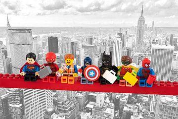 Lunch atop a skyscraper Lego edition - Super Heroes - Men - New York van