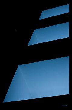 Blauwe vierkanten van Jos Verhoeven
