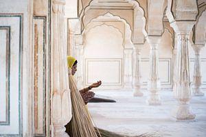 Amber fort, Jaipur, India van Mark Bonsink