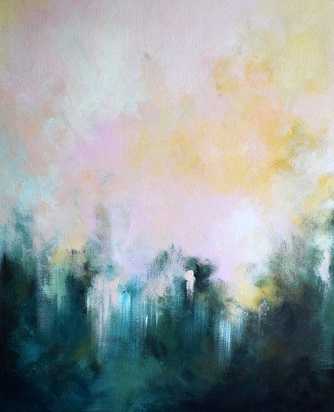7662409e26039f Forest Walk (gezien bij vtwonen) van Maria Kitano op canvas, behang ...