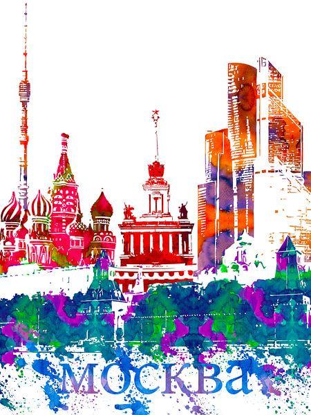 Moskou van Printed Artings