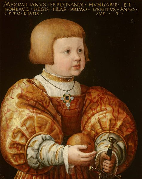 Portrait of Maximilian of Austria, Aged Three, Jacob Seisenegger von Meesterlijcke Meesters
