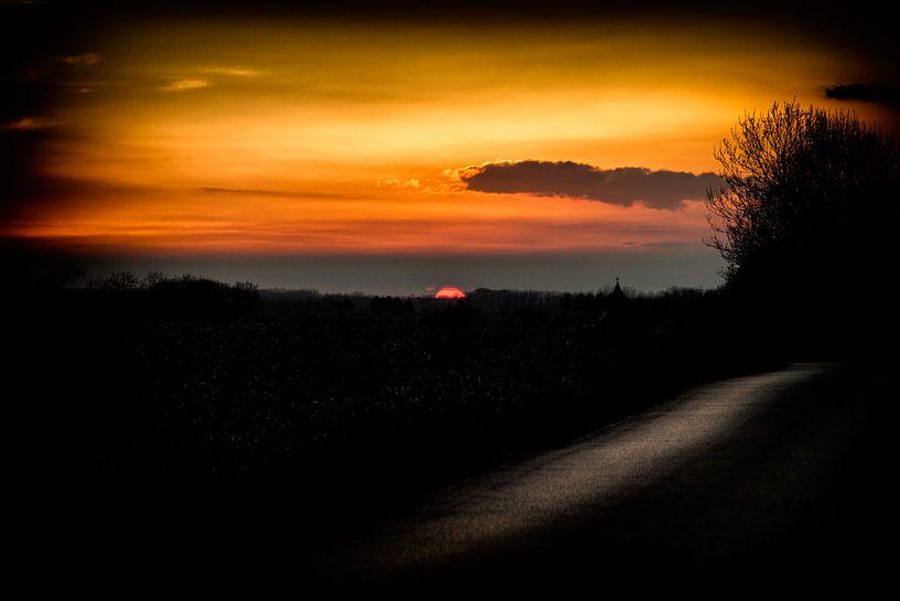 Zonsondergang  van Ronald De Neve