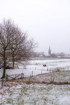 Kerk in de sneeuw van Moetwil en van Dijk - Fotografie