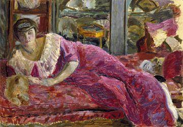 Frau auf einem Sofa, Pierre Bonnard, 1907-1914 von Atelier Liesjes
