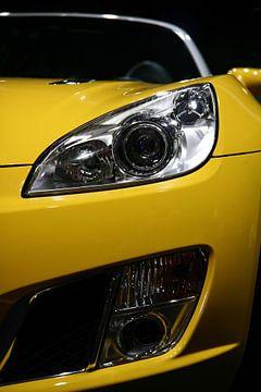 Gele sportwagen van