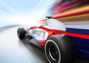 Formel 1-Auto mit Bewegungsunschärfe von Henny Hagenaars