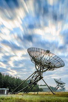 Radiotélescopes Lever du soleil à Westerbork sur Fotografiecor .nl