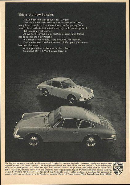 Werbung 1966 Porsche 911 912 von Jaap Ros