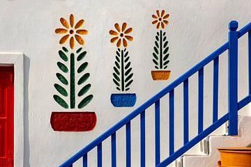 Farbenfrohes Detail, Mykonos, Griechenland von Adelheid Smitt