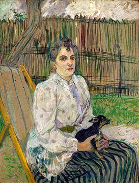 Dame mit einem Hund, Henri de Toulouse-Lautrec von