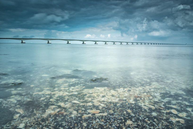 Lange sluitertijd Zeelandbrug (VI) van Mirjam Boerhoop - Oudenaarden