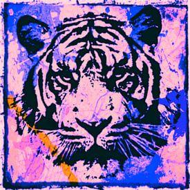 Tiger - Splash Pop Art PUR - 3 Colours - Part 3 von Felix von Altersheim