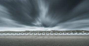 Stormachtig weer op het strand van Remco Piet