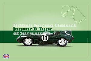 Jaguar D-Type in Silverstone, England