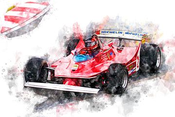 Gilles Villeneuve, Ferrari von Theodor Decker