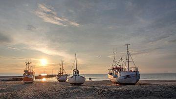 Coucher de soleil au Danemark sur Frans Nijland