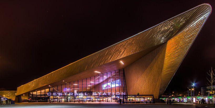 Rotterdam Centraal Station Nacht  van Evert Buitendijk