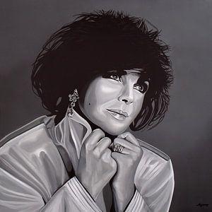 Elizabeth Taylor schilderij