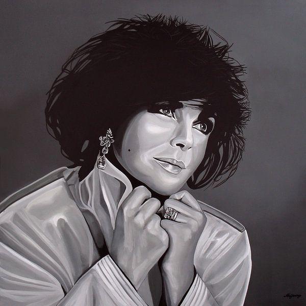 Elizabeth Taylor schilderij van Paul Meijering