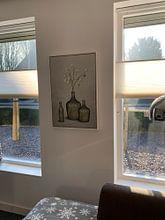 Klantfoto: Groen grijs in glas (gezien bij vtwonen) van Color Square, op canvas