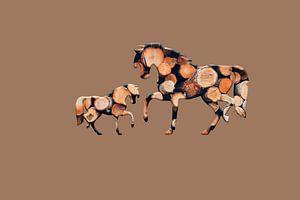 Hölzerne Pferde 3