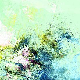 MATTERHORN v4 - Abstract painting van Pia Schneider
