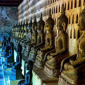 Buddha's in Lao von Jaap van Lenthe