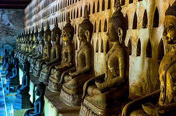 Boeddha's in  Laos van Jaap van Lenthe