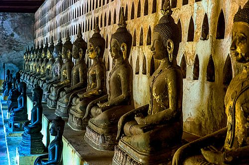 Boeddha's in  Laos van