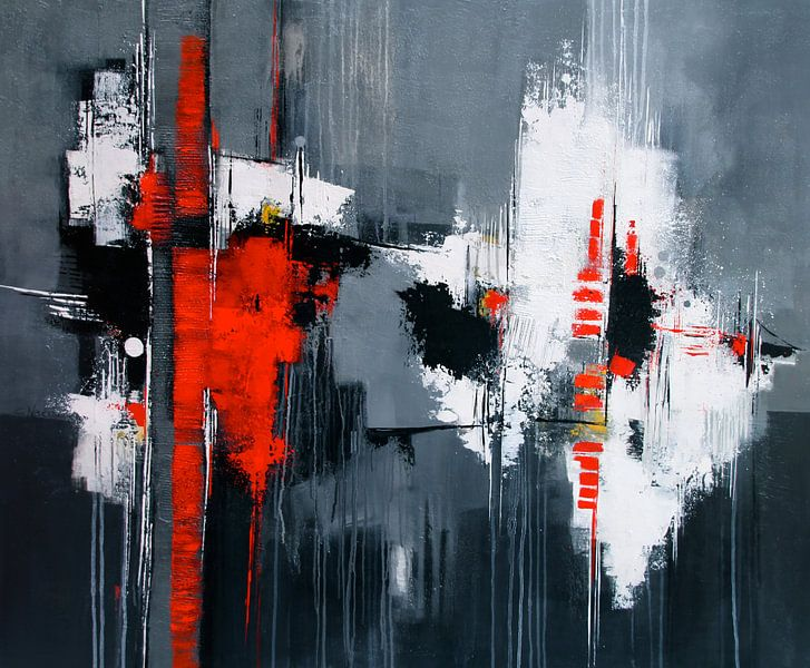 Abstrakt in Grau von Claudia Neubauer