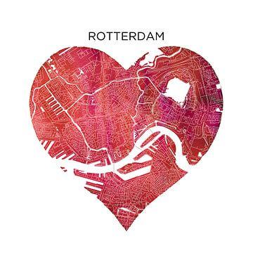 Rotterdam | Stadtplan als Wandkreis von Wereldkaarten.Shop