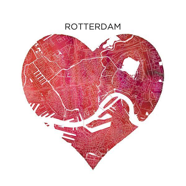 Rotterdam | Stadskaart als Wandcirkel van Wereldkaarten.Shop