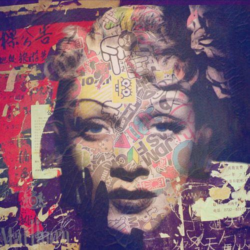 Marlene Dietrich Plakative Dadaismus  von Felix von Altersheim