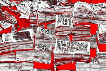 Bloody newspapers van