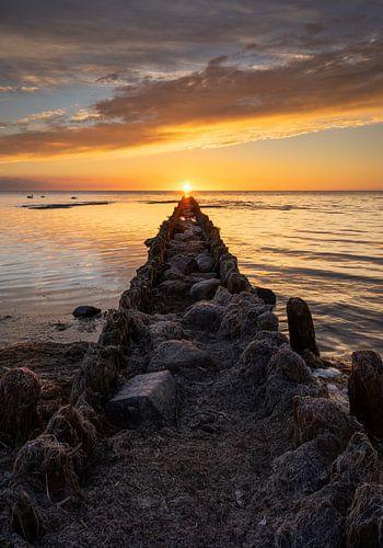 Perfecte zonsondergang van