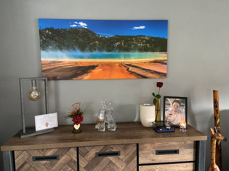 Klantfoto: Grand prismatic spring Yellowstone van Ilya Korzelius