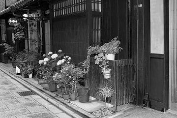 Gion Kyoto Japan, zwart wit van Inge Hogenbijl