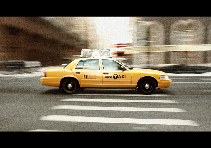 Speeding yellow cab van jody ferron