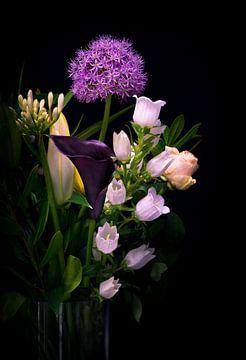 Nature morte avec vase de fleurs sur Danny den Breejen