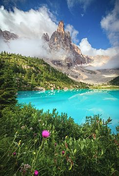 Dolomieten Lago di Sorapis van Jean Claude Castor