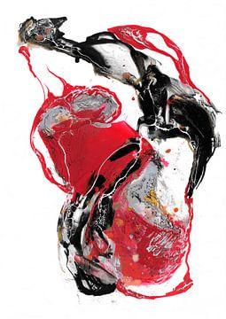 Abstrakt Rot von Christa Kerbusch