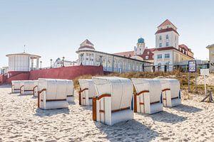 Chaises de plage à Binz sur Rügen, mer Baltique